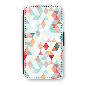 iPod Touch 6 Flip Case - Coloured triangles pastel