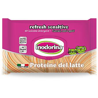 Inodorina Hygienic Sensitive Wipes Milk Protein For Dogs And Cats