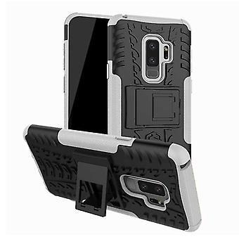 Hybrid sag 2 stykke SWL udendørs hvid for Samsung Galaxy S9 G960F taske dækning