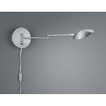Trio Lighting Calcio Modern Nickel Matt Metal Wall Lamp