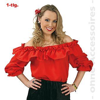 Carmen blouse van off schouder blouse Spaanse flamenco Cowgirl Womens kostuum