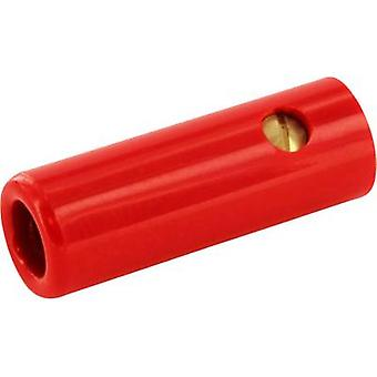 ECON koble BAK4SRT pluggen Socket, rett Pin diameter: 4 mm Red 1 eller flere PCer