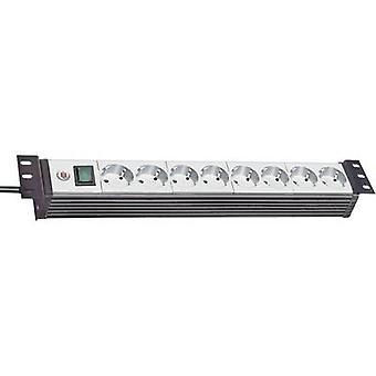 Brennenstuhl 1156057018 19 socket stripe 8 x grå, svart PG-kontakt