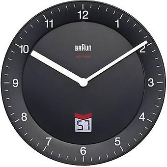 Braun 66012 Radio Wall clock 20 cm Black Noiseless movement