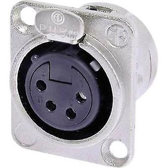 Neutrik NC4FD-L-1 XLR kontakt ärm uttag, rak stift antal stift: 4 Silver 1 dator