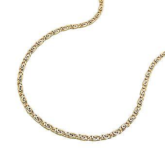 korte gouden Gourmetketting voor kinderen necklace, S tank 36 cm, 14 KT goud 585