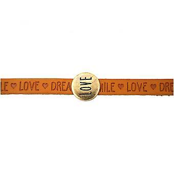 Дамы - браслет - любовь - коричневый - магнитный замок - ПОЖЕЛАНИЯ-