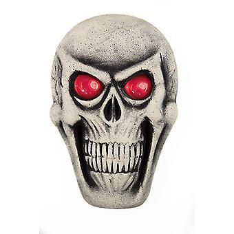 Schedel wit incl batterij decoratieve masker horror Halloween