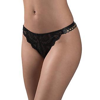 Aubade ME26 kobiet Femme Sensuelle czarne haftowane dynamometryczny łamany Knicker spodnie Tanga