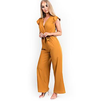 IKRUSH femei Kerry Belted late picior Jumpsuit
