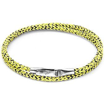 Kotva a posádky Liverpool Silver a lano náramok-žltá Noir