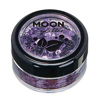 Biologisk nedbrydelige øko Chunky Glitter af månen Glitter - 100% kosmetiske Bio Glitter til ansigt, krop, negle, hår og læber - 3g - lavendel