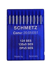 10 x Schmetz Industrial Sewing Needles - Ball Point 134 SES / 135x5 SES / DPx5 SES (Various Sizes)