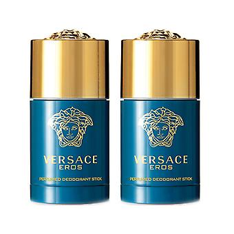 2-pack Versace Eros Deostick 75ml