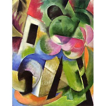 Small Composition II, Franz Marc, 50x40cm
