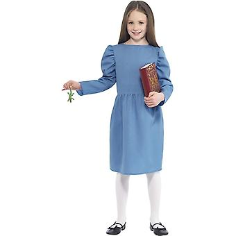Roald Dahl Matilda Costume, Blue, with Dress, Newt & Book