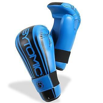 Bytomic eje punto de combate guantes azul/negro