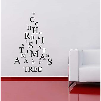 Christmas Tree Letters Wall Window Sticker