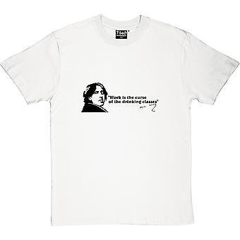 Oscar Wilde trinken Klassen Zitat Herren T-Shirt