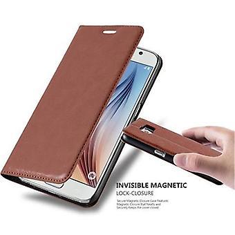Futerał Cadorabo do obudowy Samsung Galaxy S6 - futerał na telefon z magnetycznym zapięciem, funkcją stojaka i komorą na kartę - Obudowa ochronna Case Case Book Folding Style