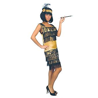 Womens 1920-talet gyllene Charleston Fancy Dress kostym
