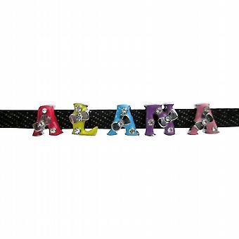 Customised Name Bracelet Black Watch Strap Colorful Alphabet