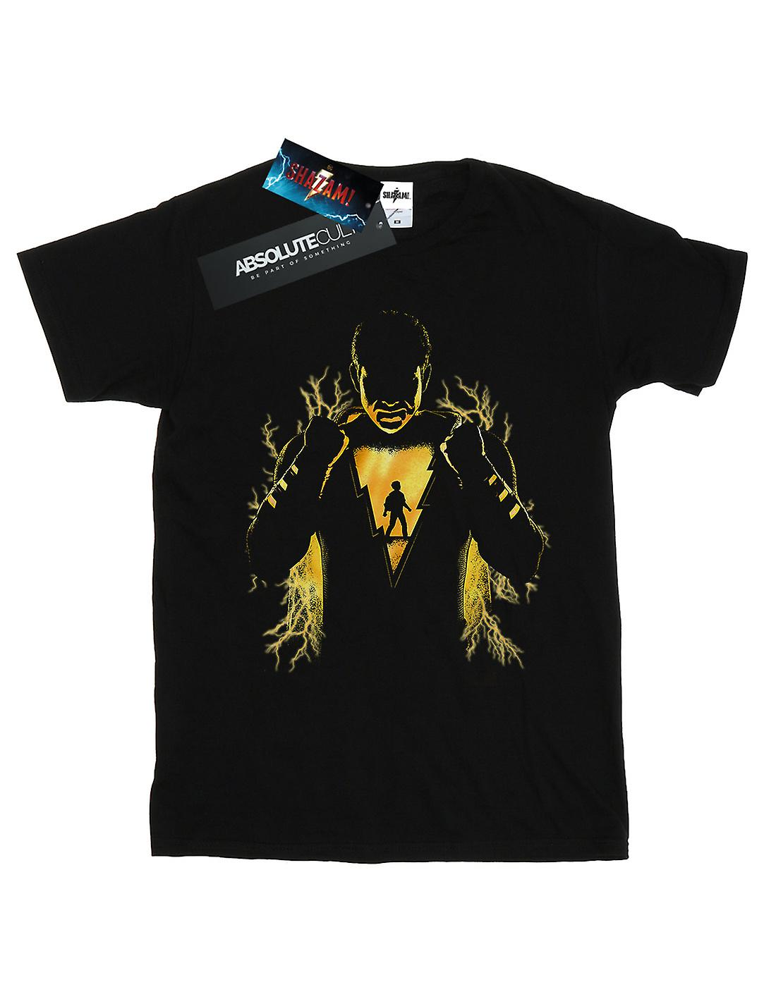 DC Comics Women's Shazam Lightning Silhouette Boyfriend Fit T-Shirt