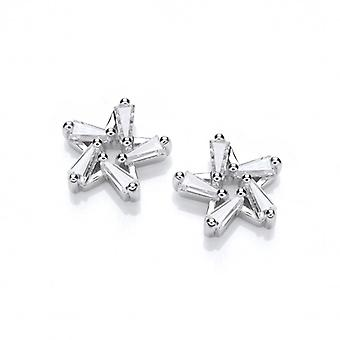 Cavendish French Silver and CZ Chic Star Earrings