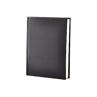 Black Hard Cover Case Bound Sketch Pad A6