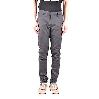 Dondup Ezbc051071 Men's Grey Wool Pants
