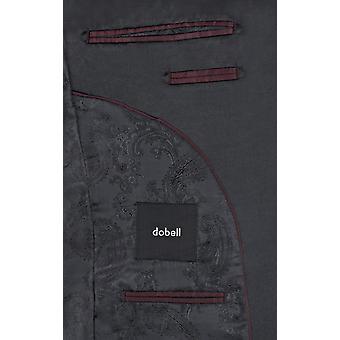 Ajuste de Dobell para hombre negro 2 piezas smoking flaco solapa de la muesca traje de cena de la noche