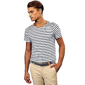 Outdoor Look Mens Marinière Classic Fit Crew Neck T Shirt