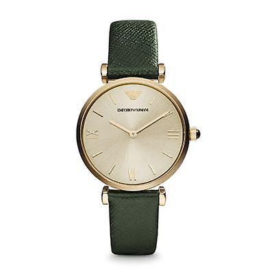 Emporio Armani Ar1726 Ladies Retro Green Strap Watch