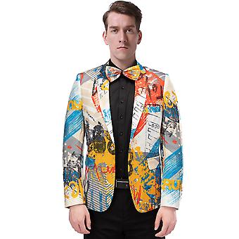YANGFAN Men's Blazer Multi-Color Casual Suit Jacket