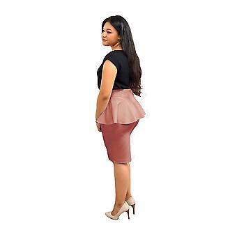DBG kvinders peplum høj talje foråret nederdele