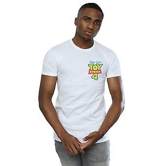 Disney Men's Toy Story 4 Logo Breast Print T-Shirt