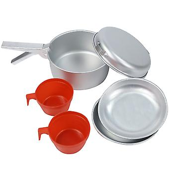 Regatta 2 Person Lightweight Alluminium Camping Cooking Set