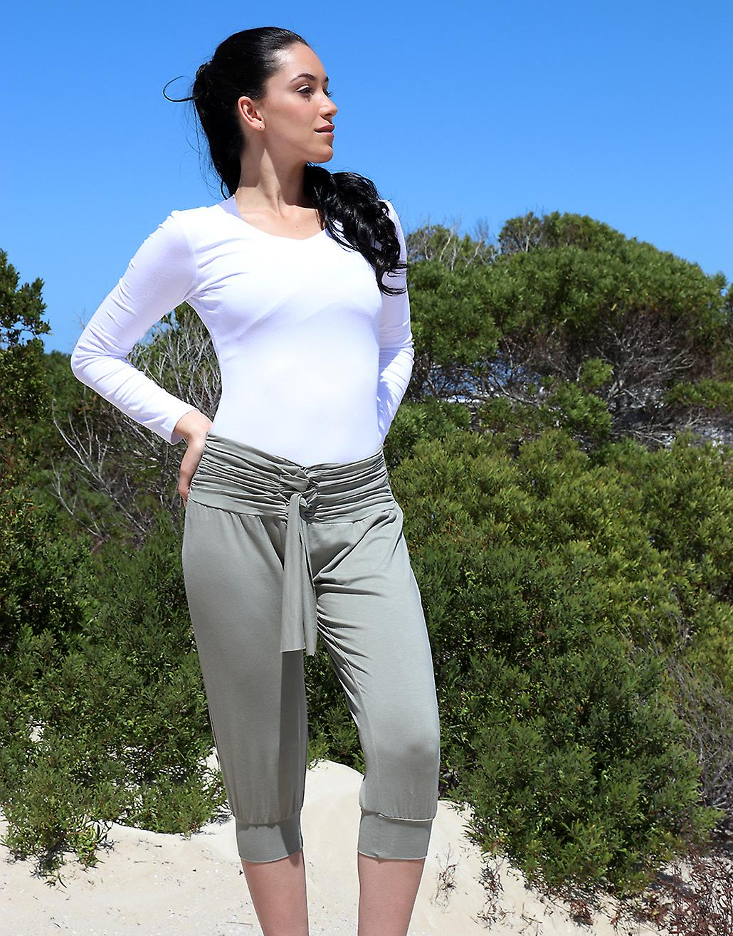 Harem Pants with Rouched Wide Band