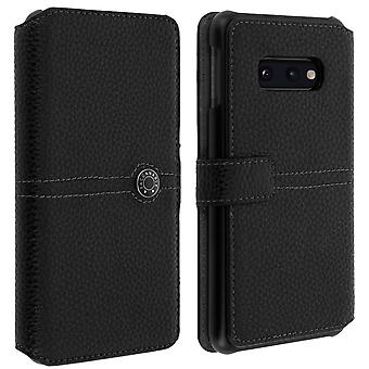 Samsung Galaxy S10e Flip Case Card Holder Textured Effect Façonnable Black