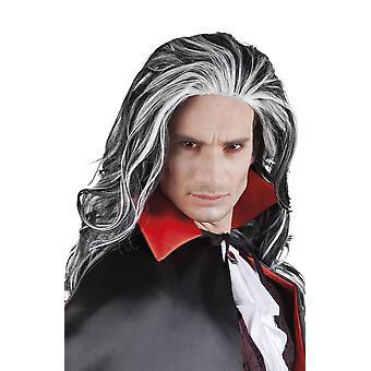 Mens volwassenen Vampire Louis pruik Halloween fancy dress accessoire