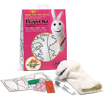 Hand Puppet - Folkmanis - Kit Bunny Puppet Kit New Animals Soft Doll Plush 2901