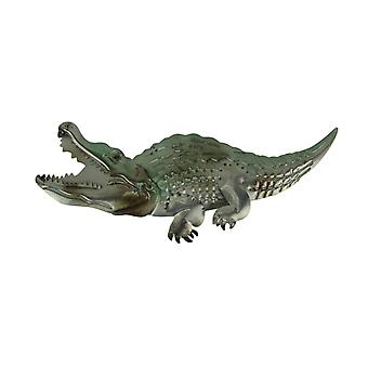 Metal Art Embossed Alligator Wall Sculpture 20 inch Long
