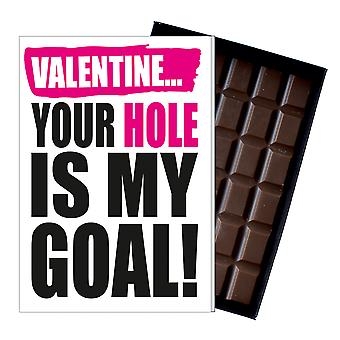 Funny Valentine's Day Gift A Rude Naughty Present for Women Chocolate Card UK IYF144