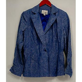 Linea by Louis Dell'Olio Women's Linen Jacket Blue A253575