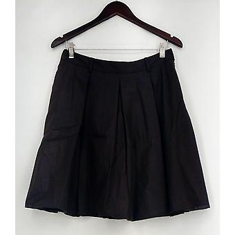 Nuovo Borgo Skirt Side Zip Pleated w/ Lining Brown NEW