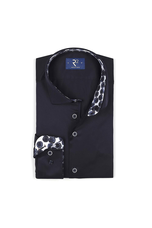 R2 Long Sleeved Wide Spread Collar Shirt Navy