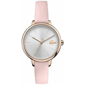 Lacoste | Kvinder ' s Cannes | Pink læderrem | Silver dial | 2001101 Watch