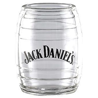 Jack Daniels tynnyri ammuttu lasi