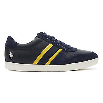 Ralph Lauren Camilo II Mens Navy / Gold Trainers