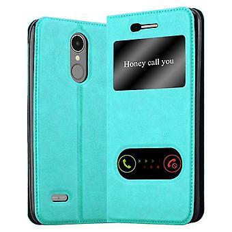 Cadorabo Hülle für LG K8 2017 Case Cover - Handyhülle mit Magnetverschluss, Standfunktion und 2 Sichtfenstern – Case Cover Schutzhülle Etui Tasche Book Klapp Style